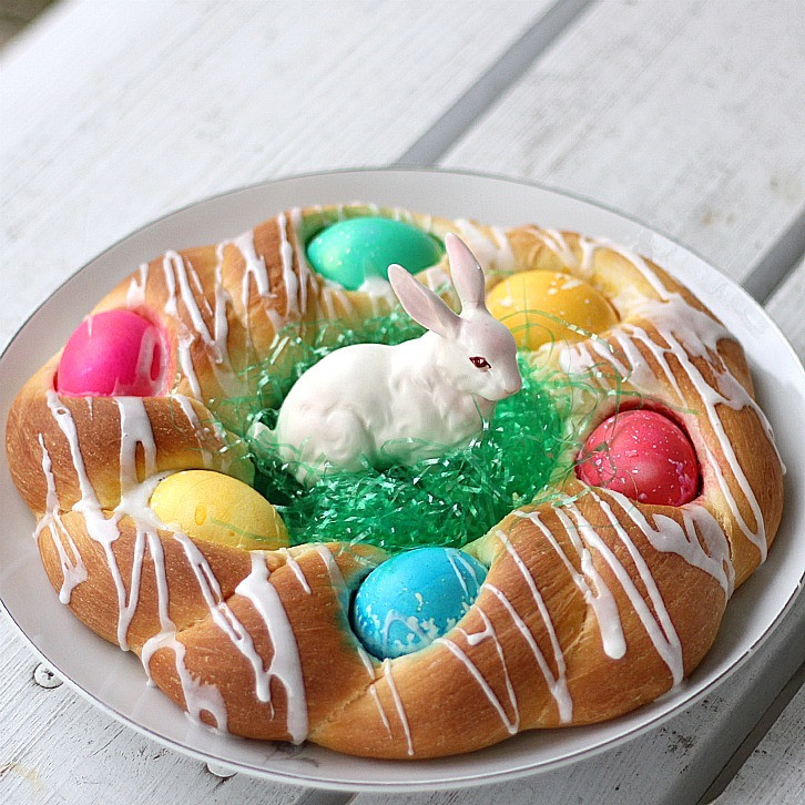 Easter Bread With Eggs  Easter Bread Grateful Prayer