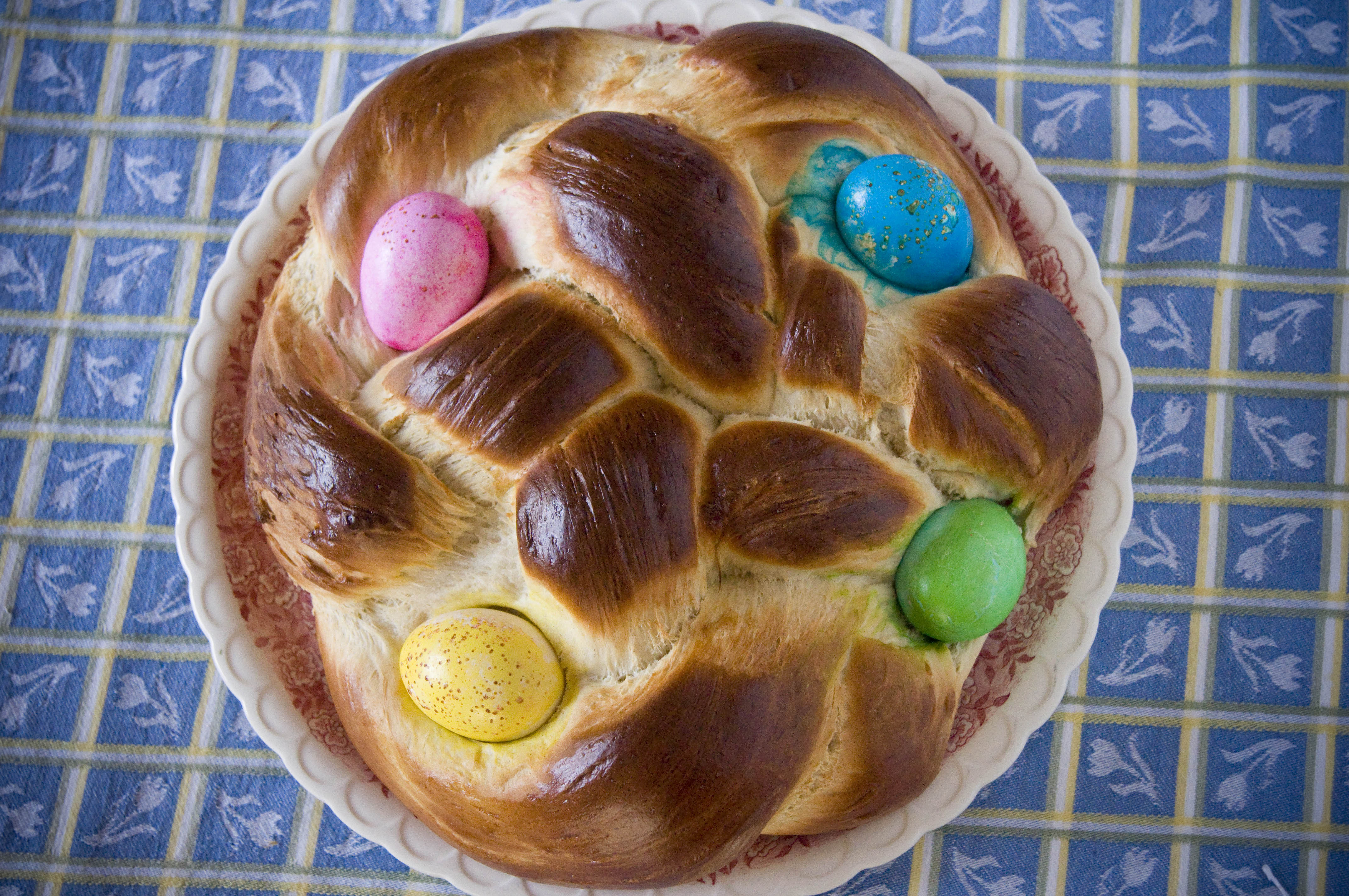 Easter Bread With Eggs  Working with Yeast 101 Easter Egg Bread