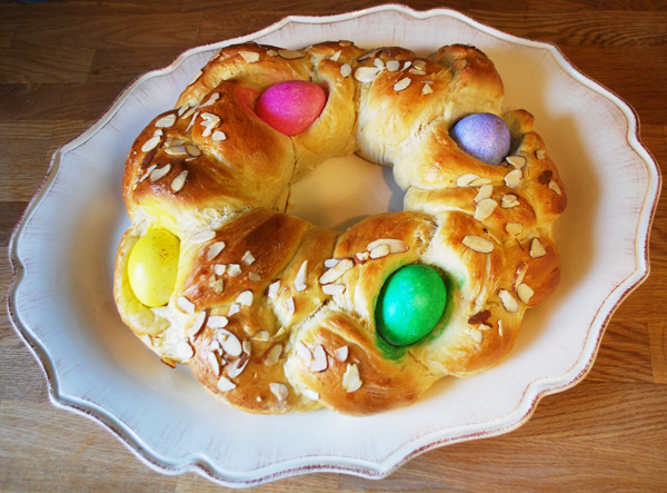 Easter Bread With Eggs  Braided Easter Egg Bread