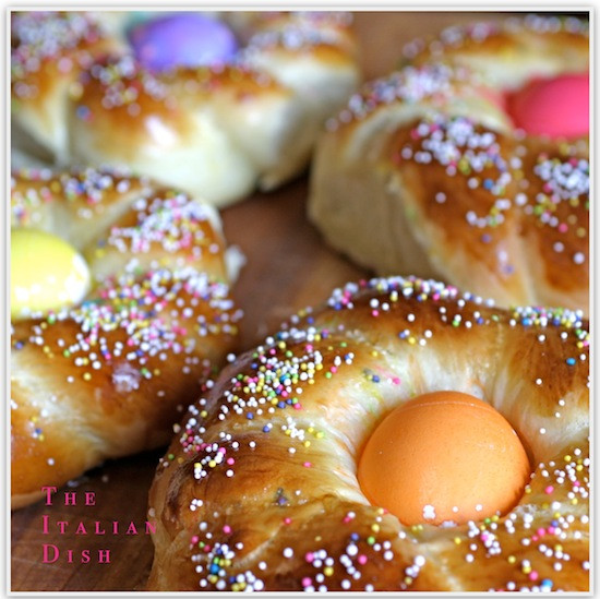 Easter Bread With Eggs  The Italian Dish Posts Italian Easter Bread