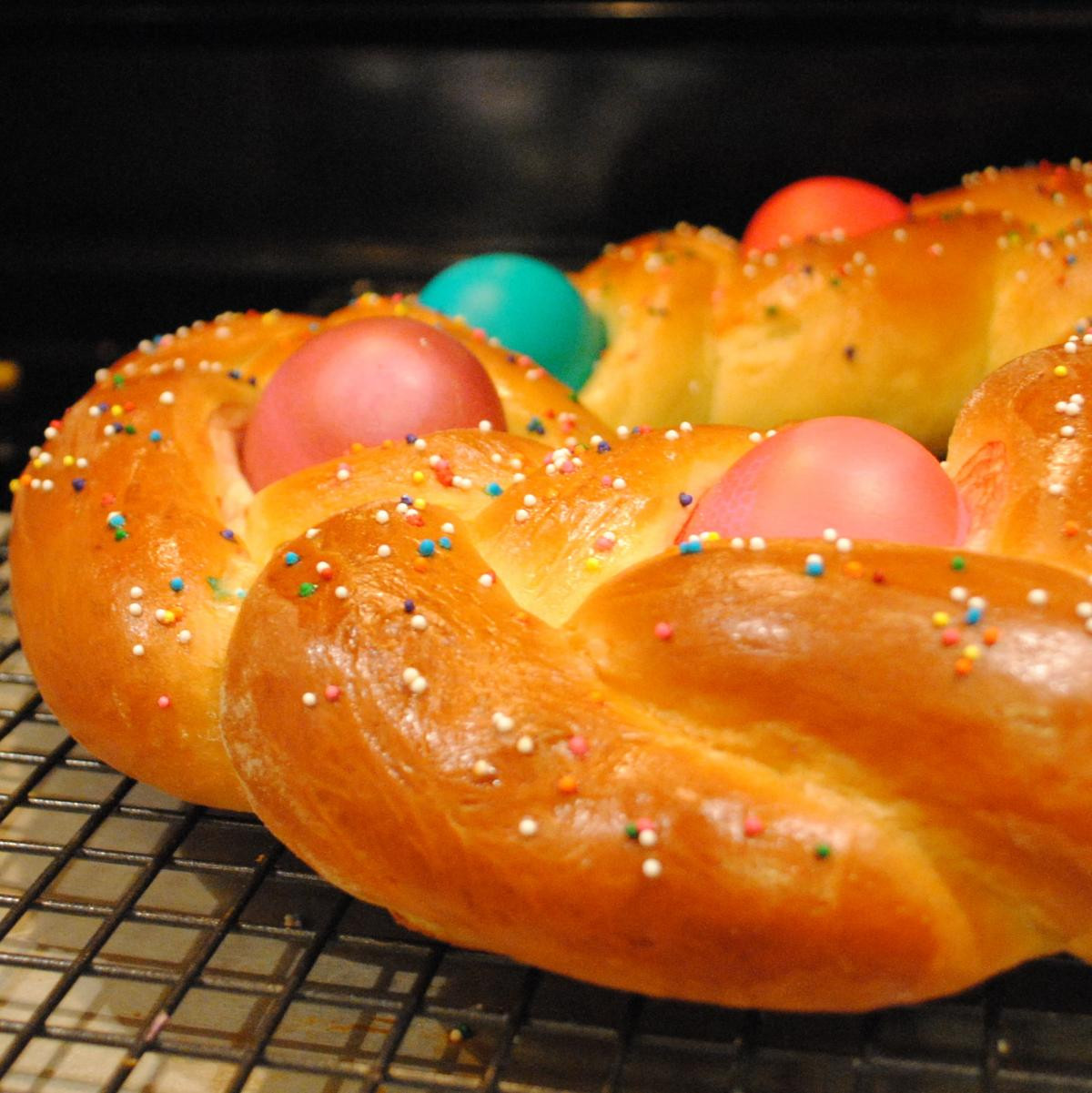Easter Bread With Eggs  8 Sweet and Edible Easter Bread Centerpieces Dish