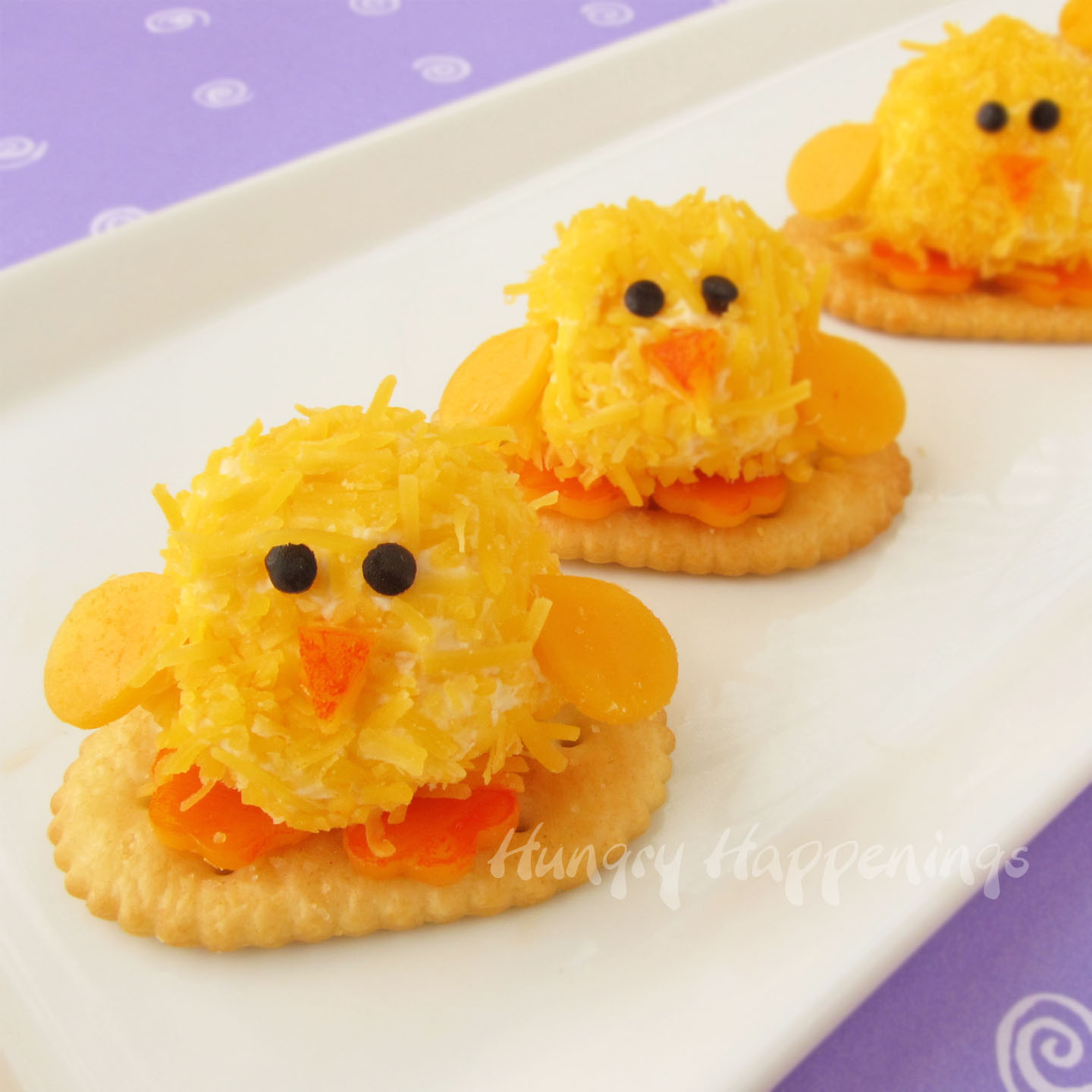 Easter Brunch Appetizers  Easter Appetizers Baby Chick Cheese Balls are so CUTE