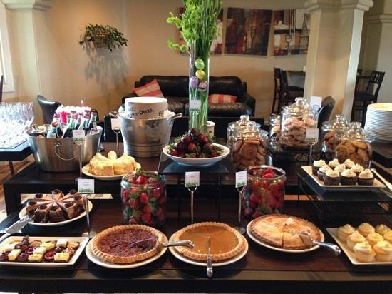 Easter Brunch Desserts  Easter brunch dessert station Picture of Bistro 1111