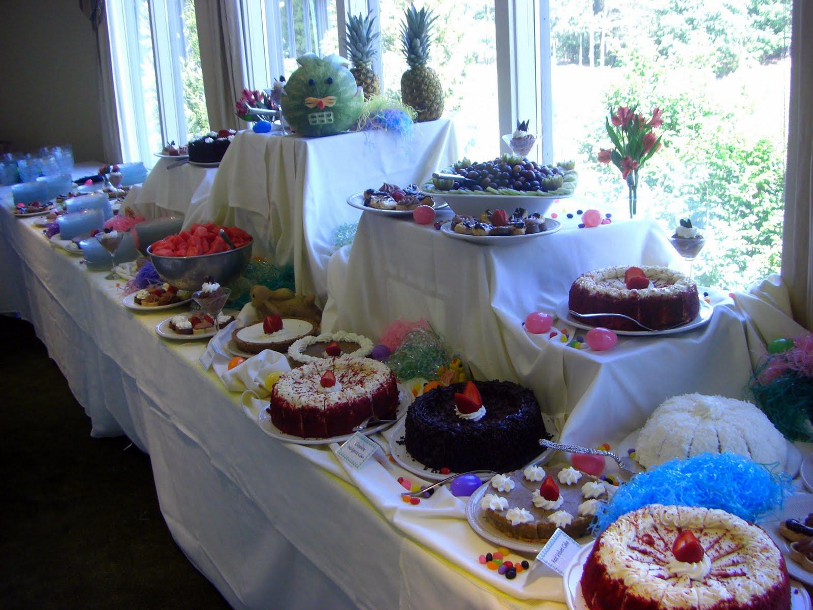 Easter Brunch Desserts  Jeff s Daily Picture Easter Brunch Dessert Table