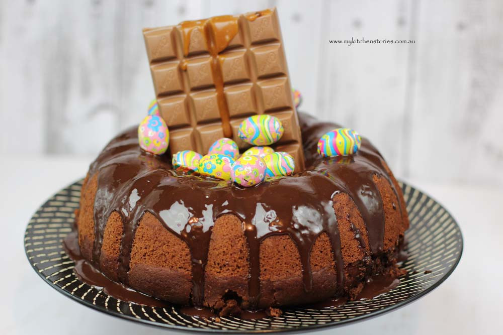 Easter Bundt Cake  Gorgeous Chocolate Cake with Easter Eggs