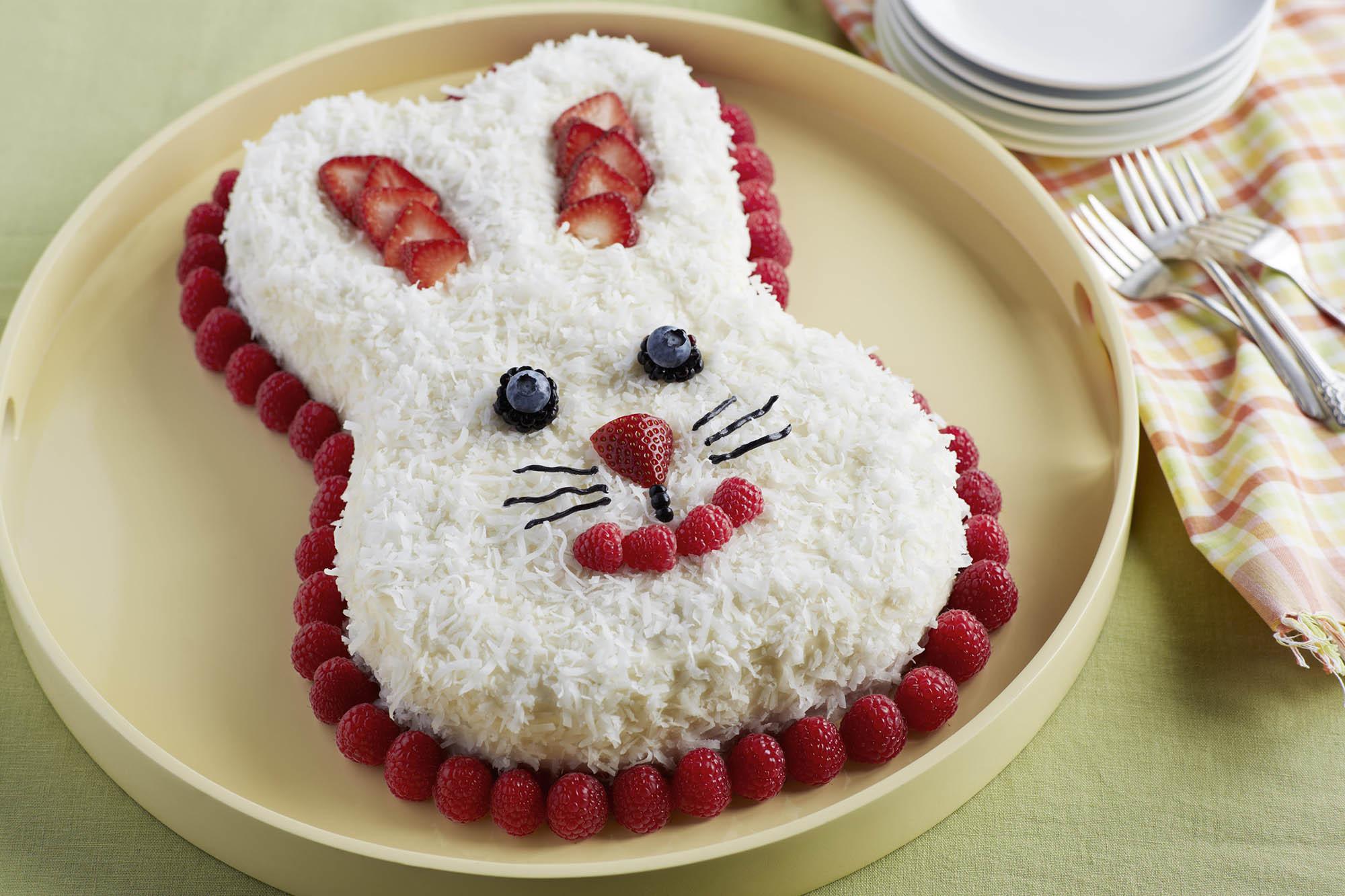 Easter Bunny Cake Recipe  Berrylicious Bunny Cake