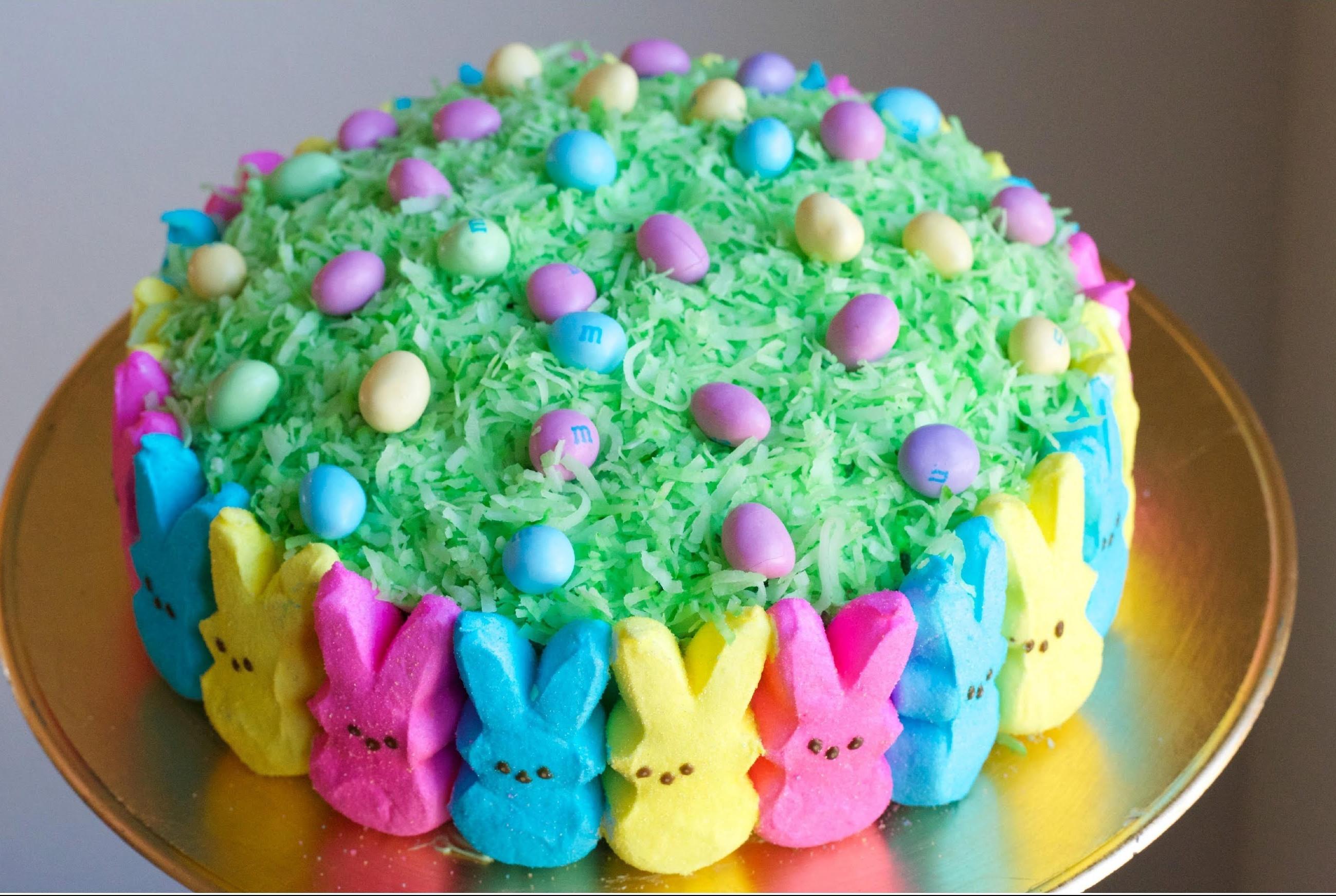 Easter Bunny Cake Recipe  Wonderful DIY Super Cute Easter Peep Cake