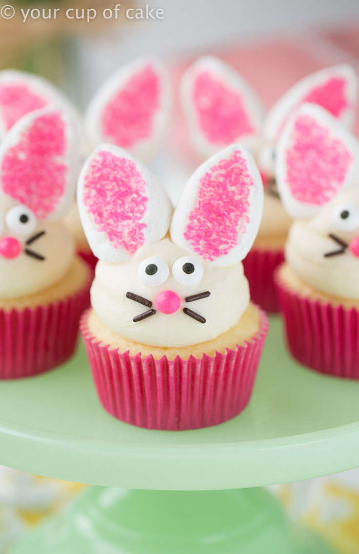 Easter Bunny Cupcakes  Easy Easter Cupcake Decorating and Decor Your Cup of Cake