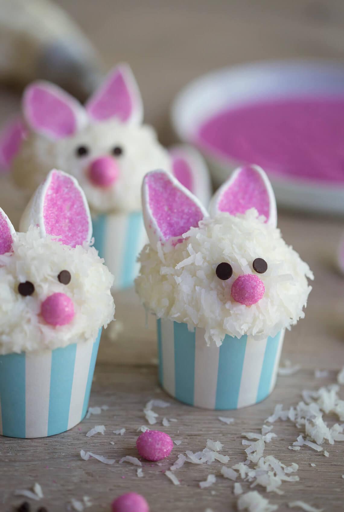 Easter Bunny Cupcakes  Bunny Ear Cupcakes Preppy Kitchen