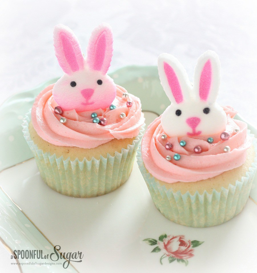 Easter Bunny Cupcakes  Easter Cupcakes A Spoonful of Sugar