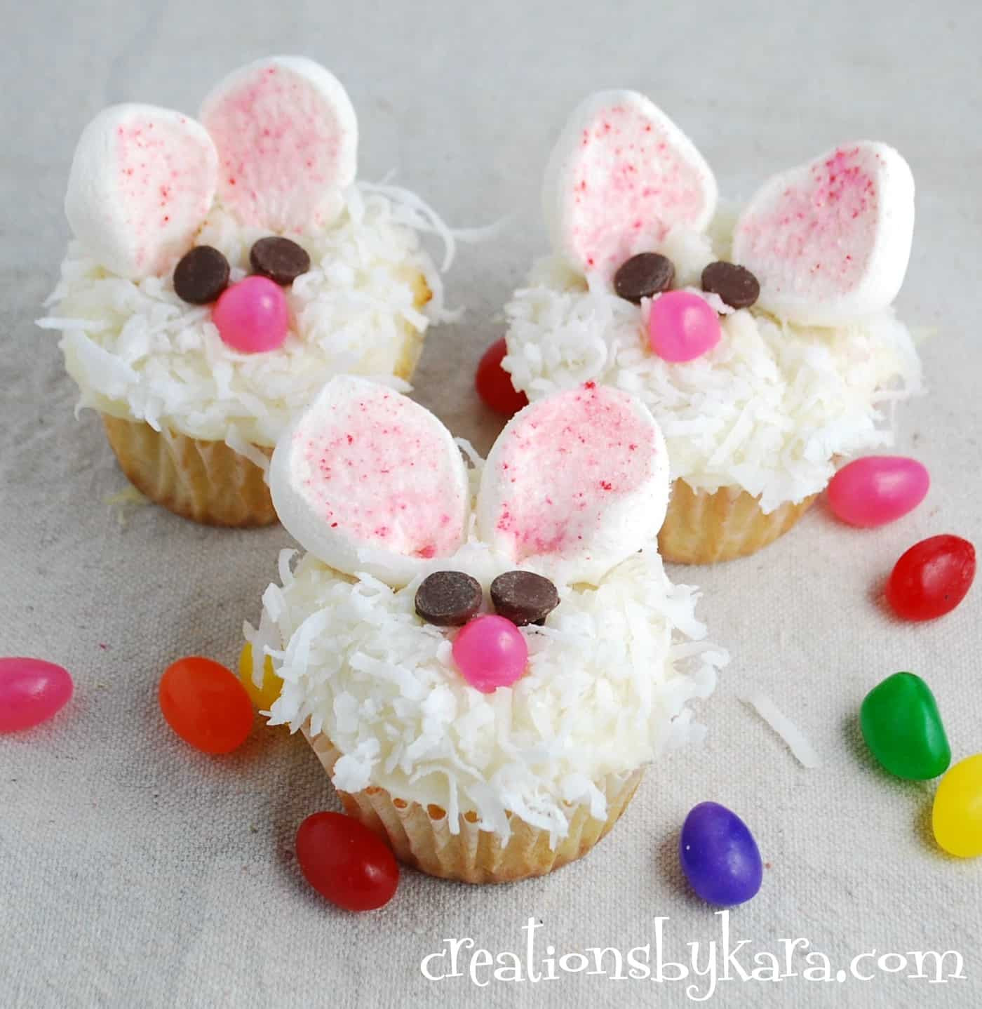 Easter Bunny Cupcakes  Cute Easter Cupcakes