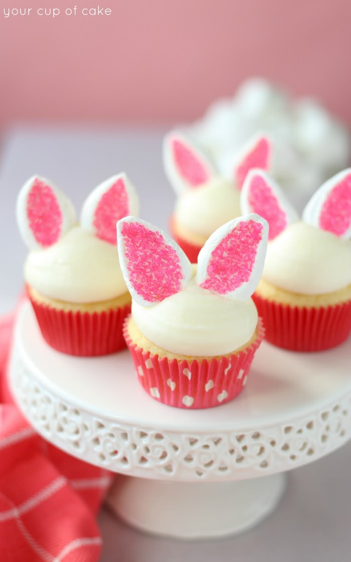 Easter Bunny Cupcakes  Cute Garden Carrot Cupcakes for Easter Your Cup of Cake