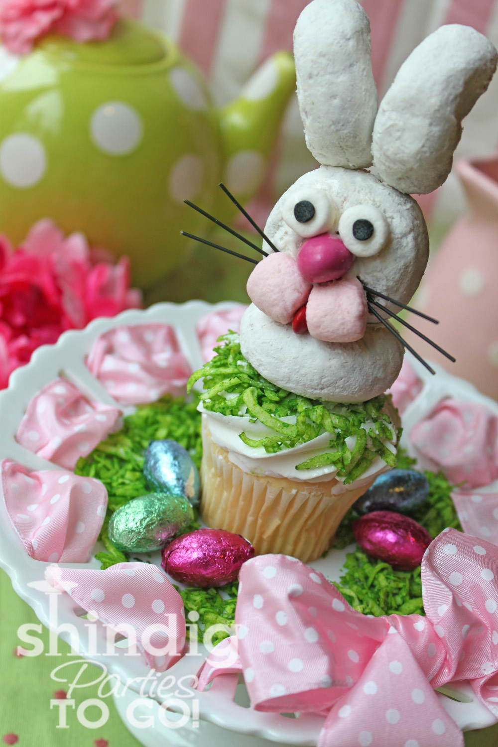 Easter Bunny Cupcakes  Pams Party & Practical Tips Easter Bunny Cupcakes