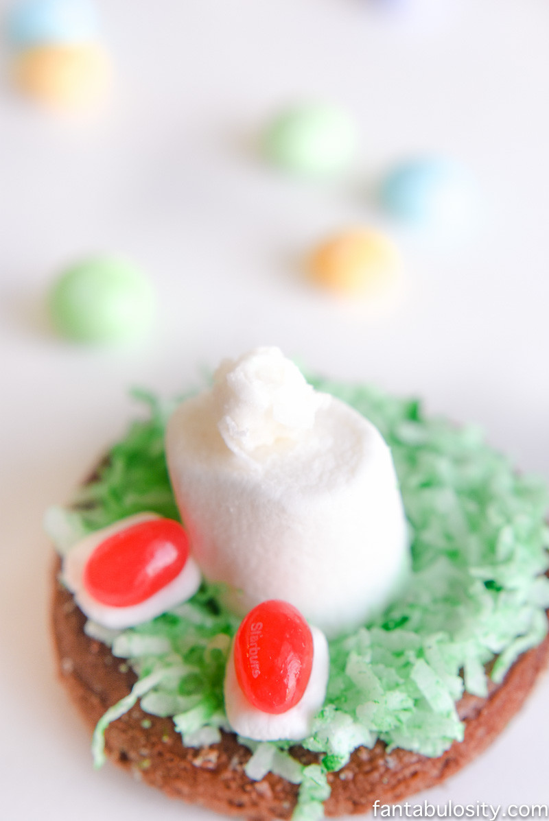 """Easter Bunny Desserts  Easy Easter Dessert Idea """"Bunny in the Hole"""" Cake Donuts"""