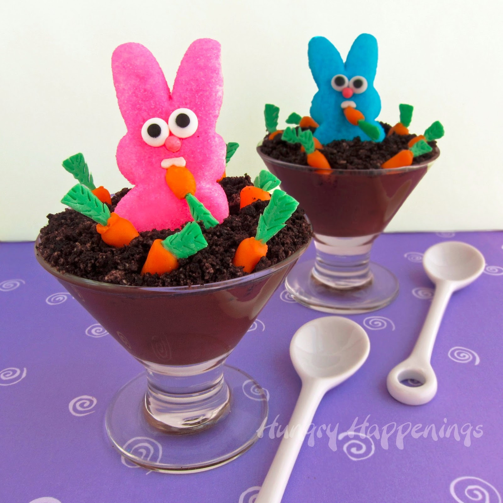 Easter Bunny Desserts  Peeps Party Raiding the Carrot Patch Peeps Pudding