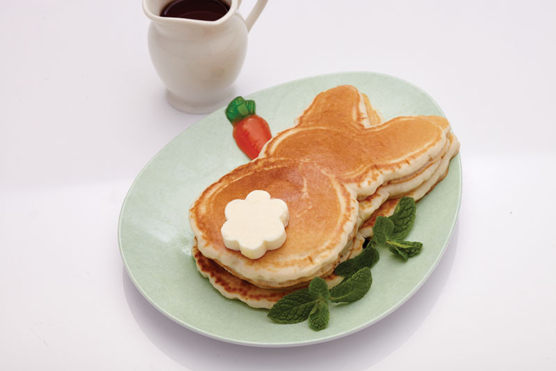 Easter Bunny Pancakes  Easter Roundup 4 Easter Recipes 2 Easter Egg DIYs