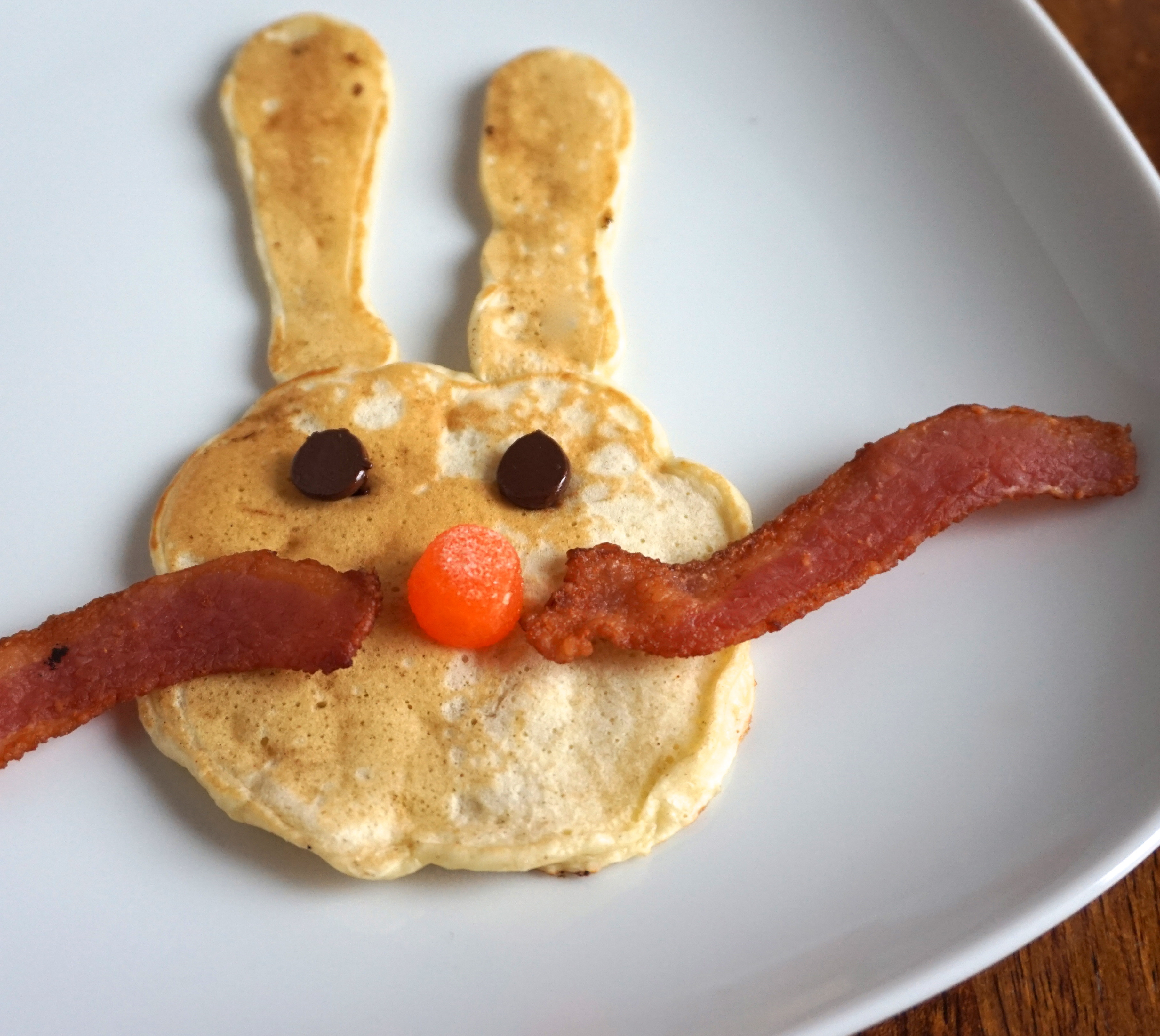 Easter Bunny Pancakes  Easter Bunny Pancakes