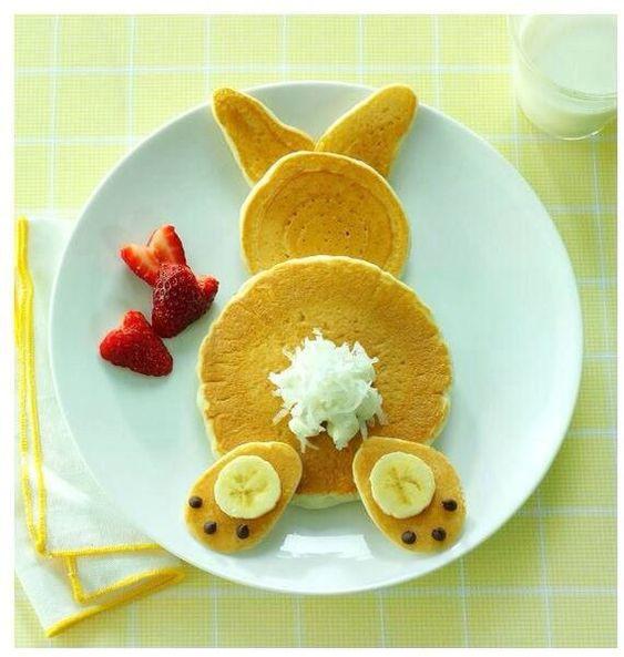 Easter Bunny Pancakes  Stylebunny Idee creative per Pasqua decorazioni e cibo
