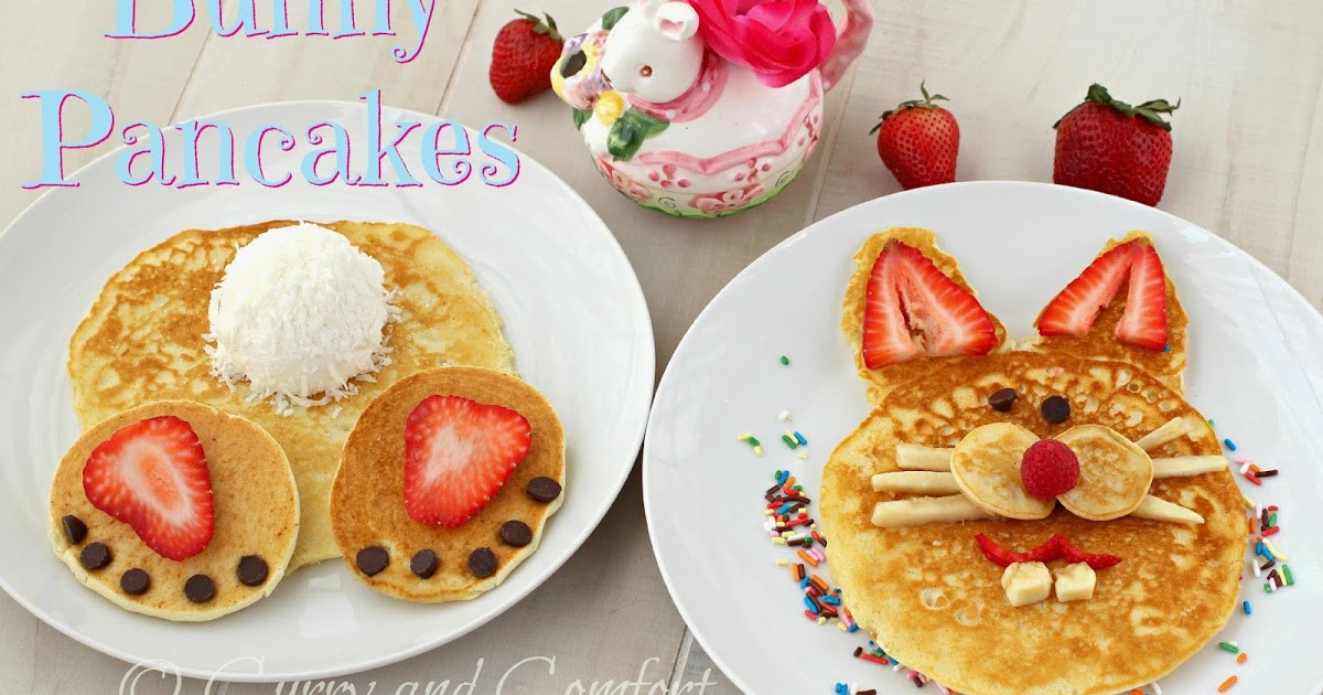Easter Bunny Pancakes  Kitchen Simmer Easter Bunny Pancakes