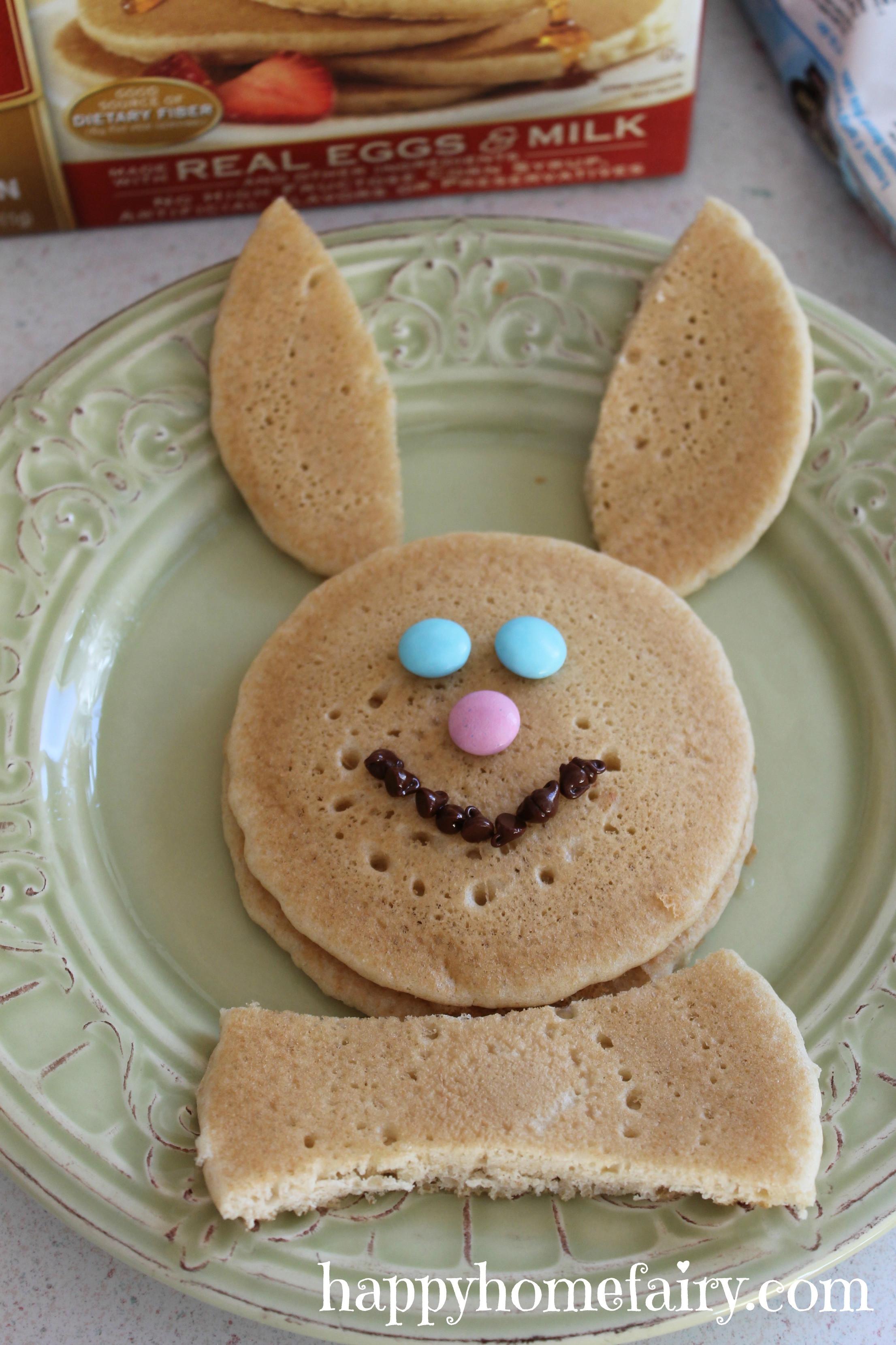 Easter Bunny Pancakes  Easy Bunny Pancakes Happy Home Fairy