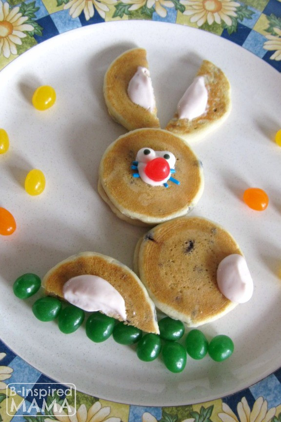 Easter Bunny Pancakes  5 Minute Easter Bunny Pancakes Recipe for an Easter