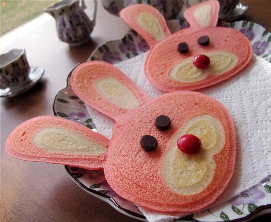 Easter Bunny Pancakes  Be Brave Keep Going How to Make Bunny Pancakes