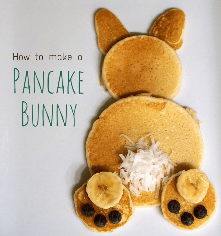 Easter Bunny Pancakes  How to Make a Pancake Bunny We re Calling Shenanigans