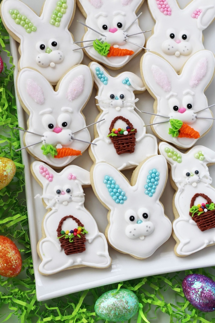 Easter Bunny Sugar Cookies  17 Best images about Cookies == Easter on Pinterest