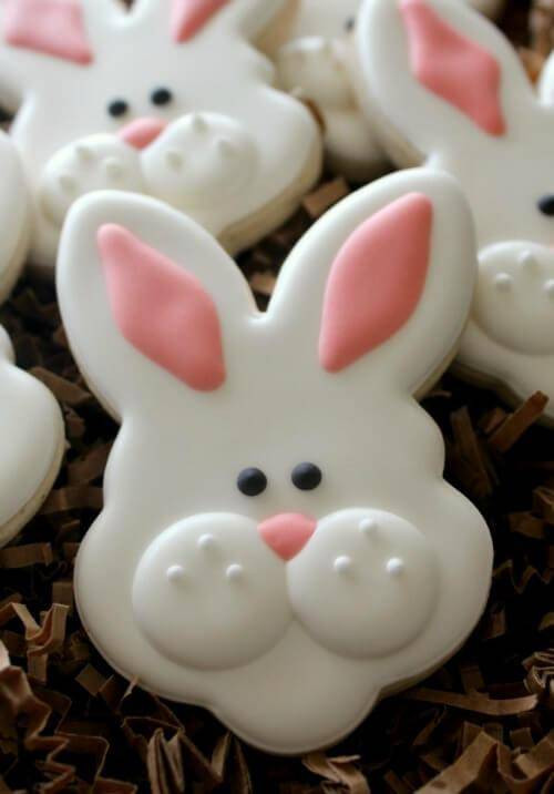Easter Bunny Sugar Cookies  Easter Bunny Recipes for Kids