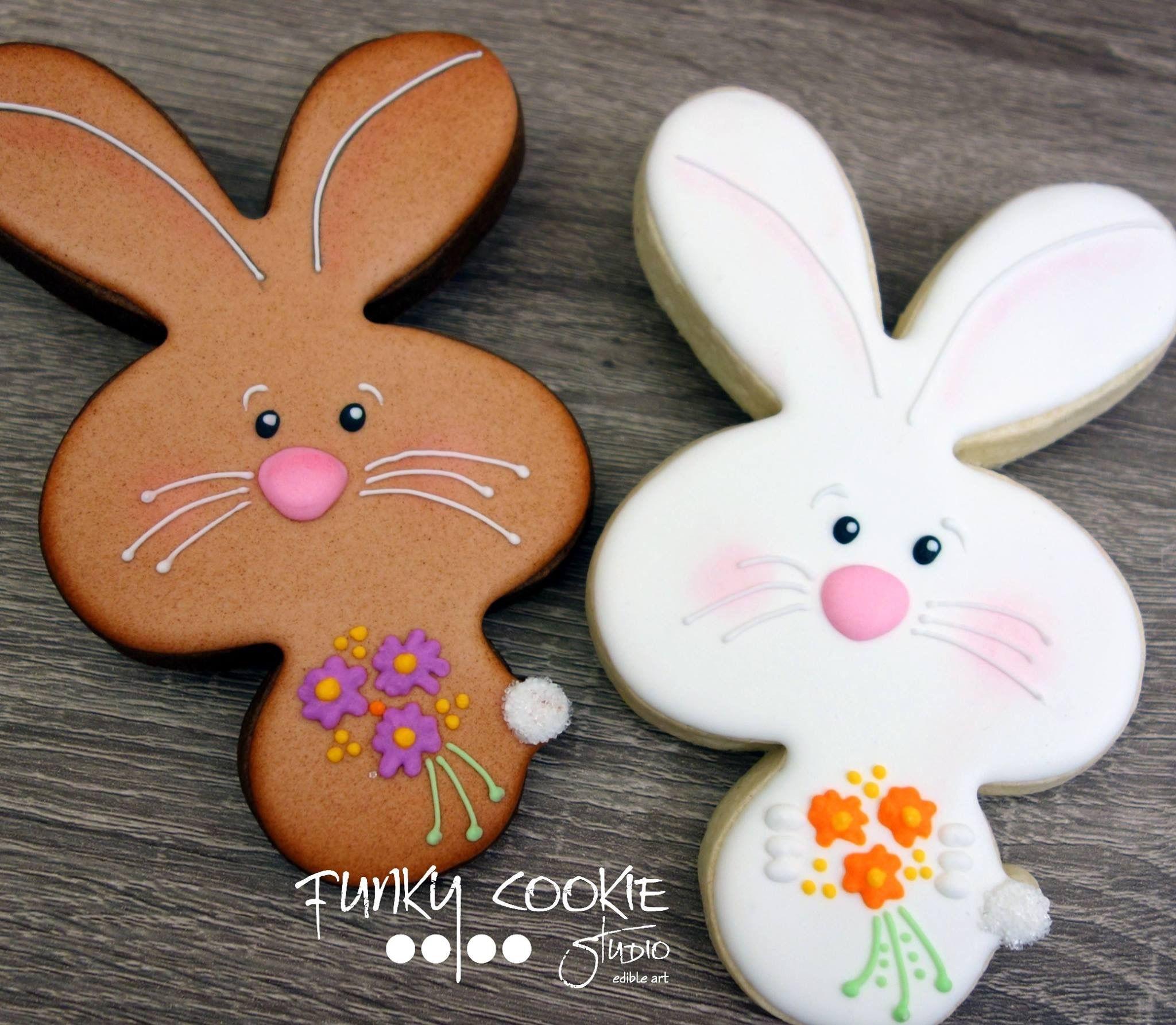 Easter Bunny Sugar Cookies  Easter bunny cookies by Funky Cookie Studio