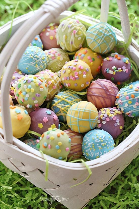Easter Cake Easter Desserts  Skinny Easter Egg Cake Balls