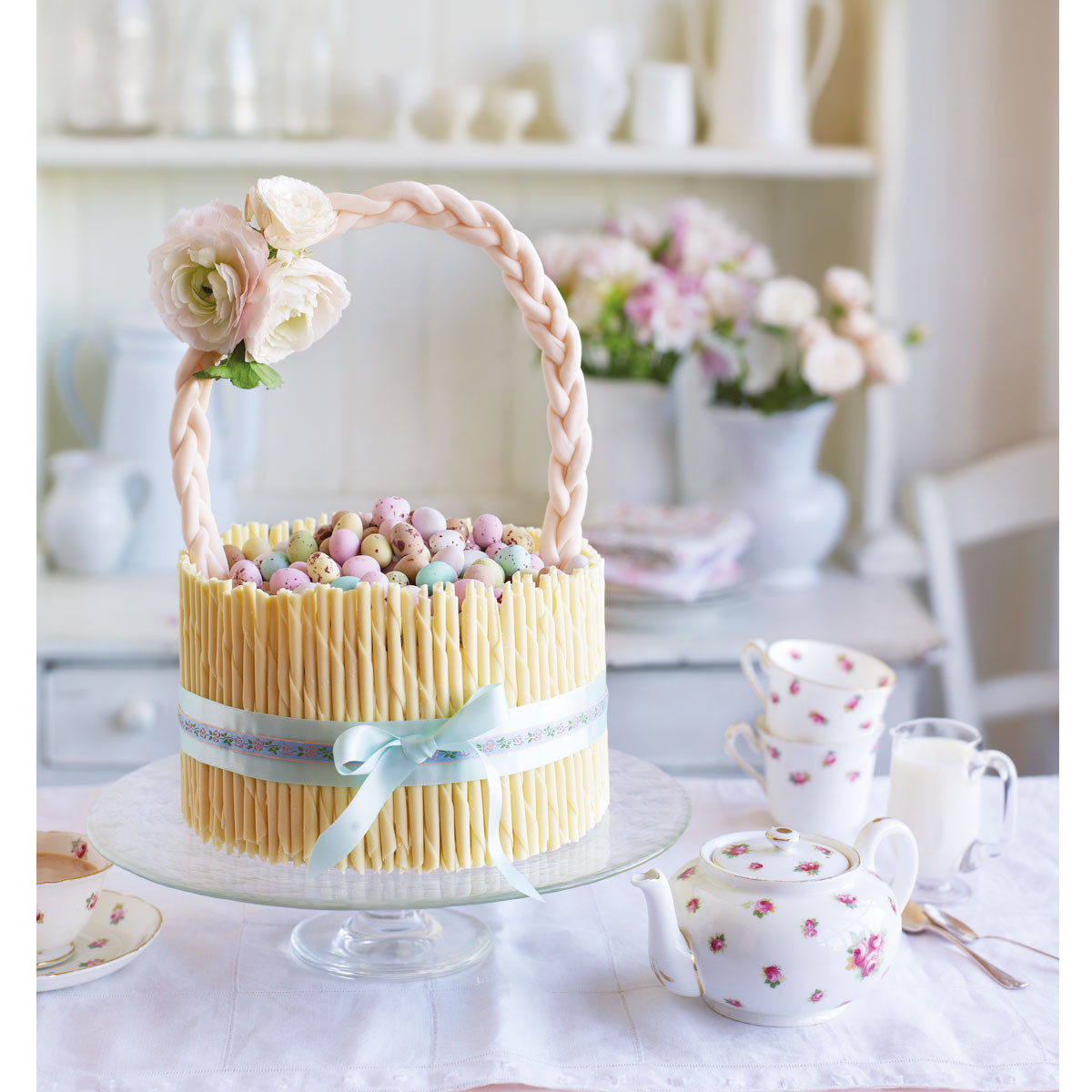 Easter Cake Recipes  Easter basket cake carrot cake recipe Good Housekeeping