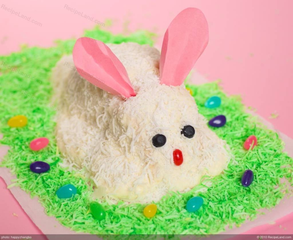 Easter Cake Recipes  White Easter Bunny Cake Recipe