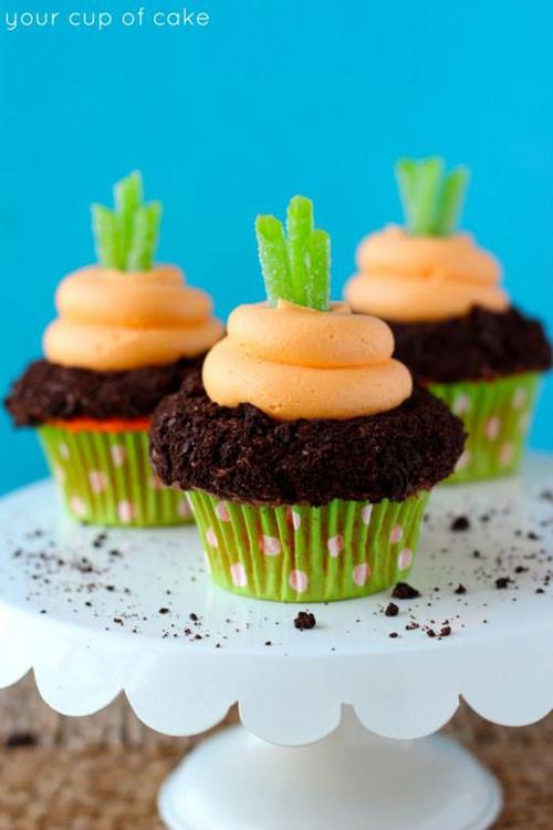 Easter Carrot Cake Cupcakes  35 Adorable Easter Cupcake Ideas