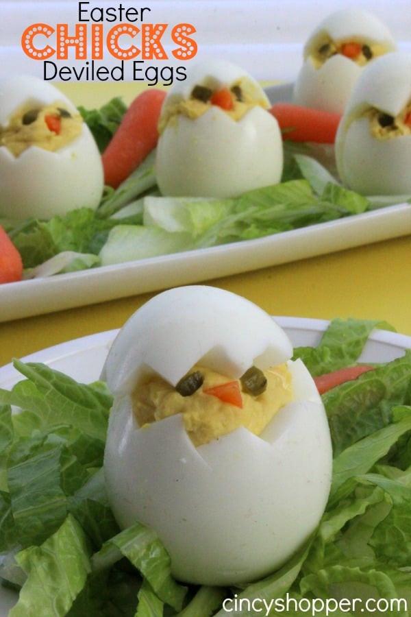 Easter Chick Deviled Eggs  Easter Chicks Deviled Eggs CincyShopper