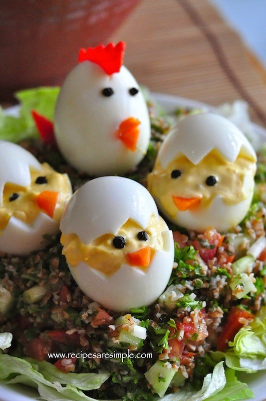 Easter Chick Deviled Eggs  Devilled Eggs Easter Egg Chicks Recipes R