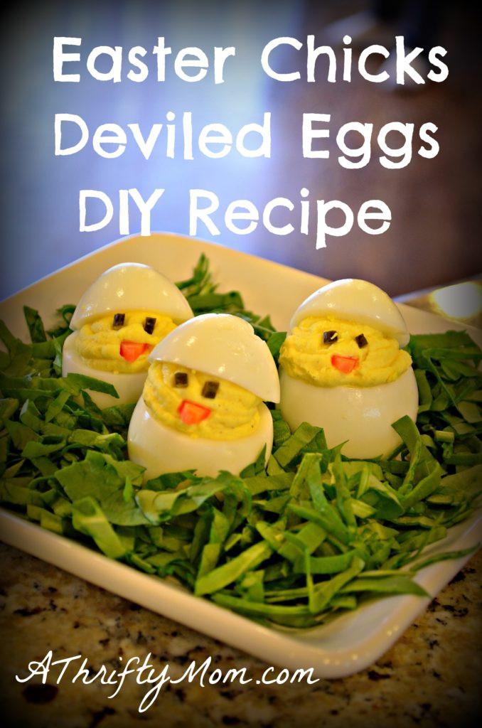 Easter Chick Deviled Eggs  Easter Chicks Deviled Eggs DIY simple money saving