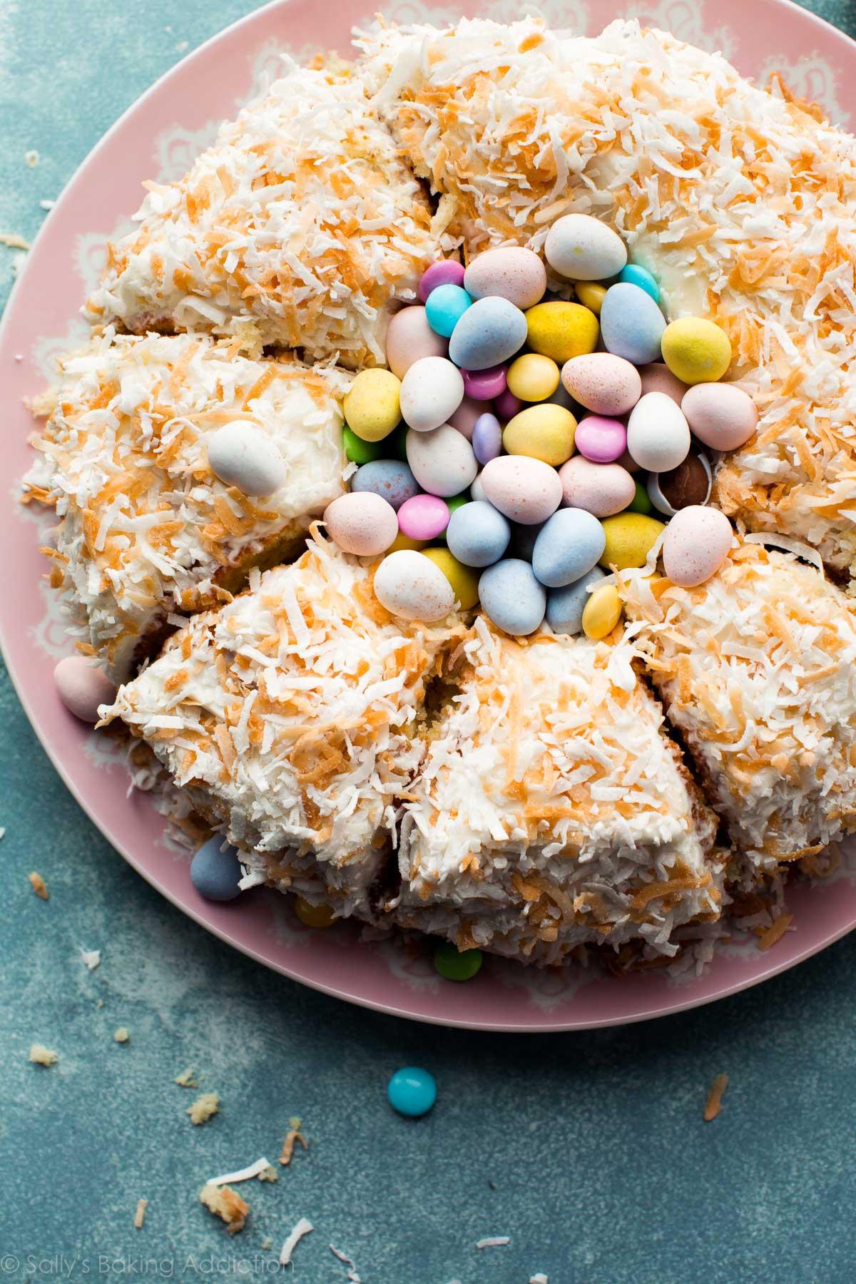 Easter Coconut Cake  Coconut Easter Nest Cake