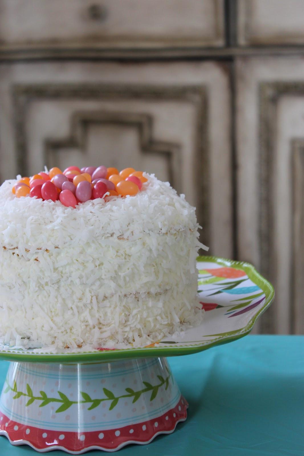 "Easter Coconut Cake  ""Isabelle Thornton"" Le Chateau des Fleurs Easter lemon"