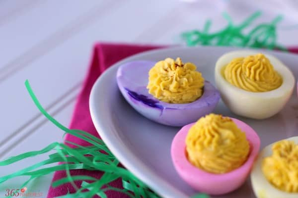 Easter Colored Deviled Eggs  Colored Deviled Eggs for Easter Simple and Seasonal