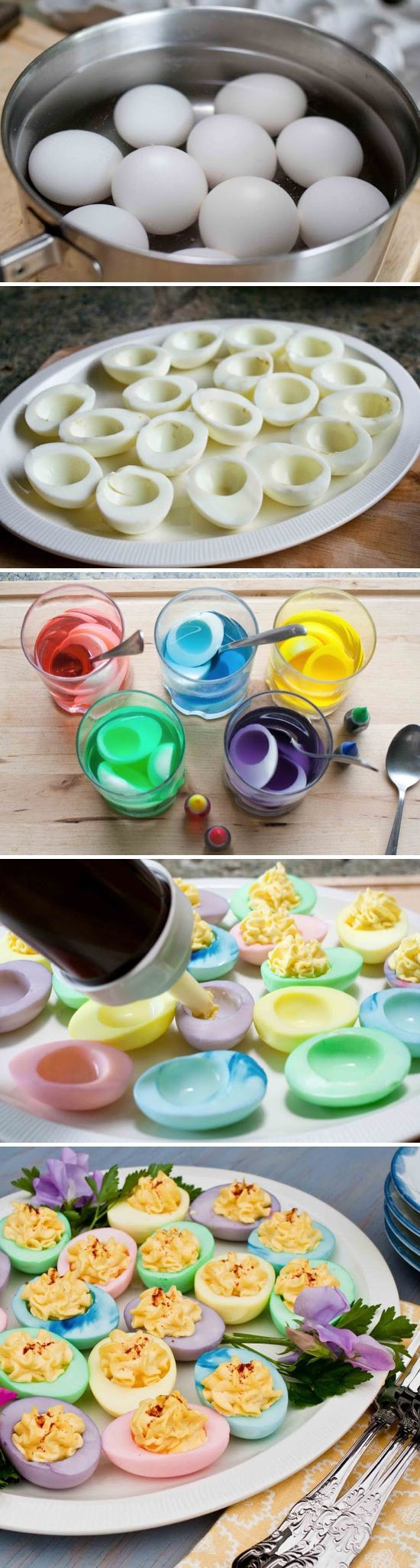 Easter Colored Deviled Eggs  Colorful Deviled Eggs