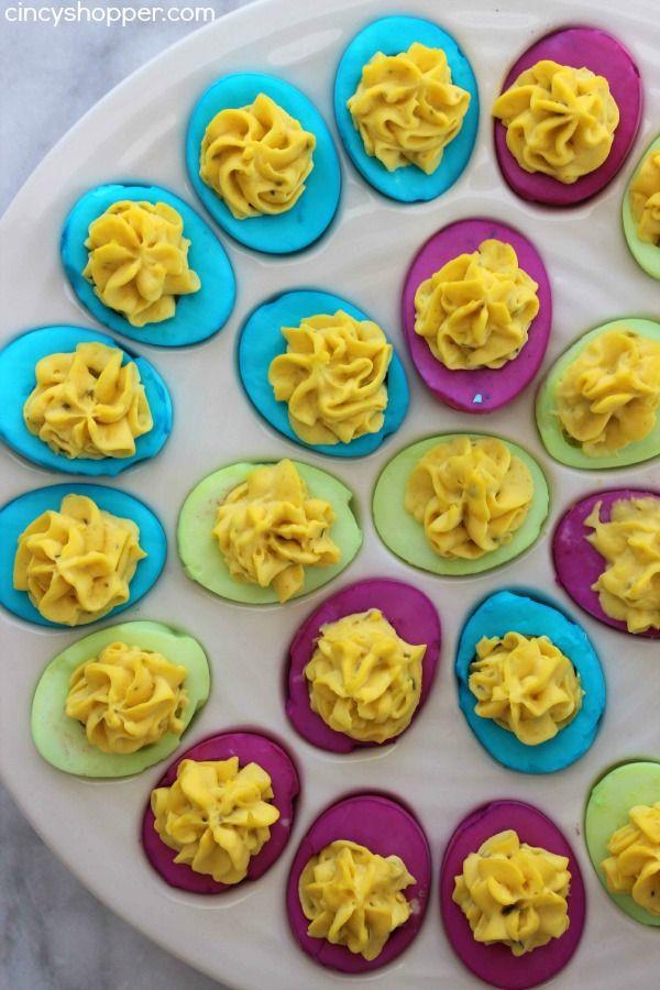 Easter Colored Deviled Eggs  Best 25 Easter deviled eggs ideas on Pinterest