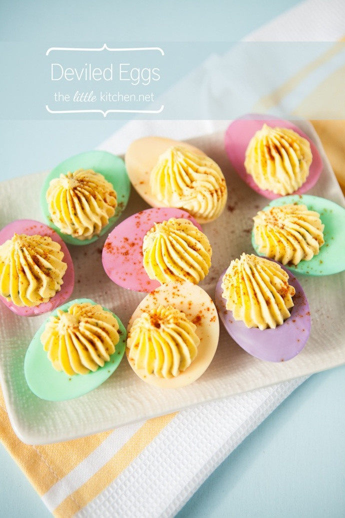 Easter Colored Deviled Eggs  I love mondays 11 te gekke tips voor Pasen