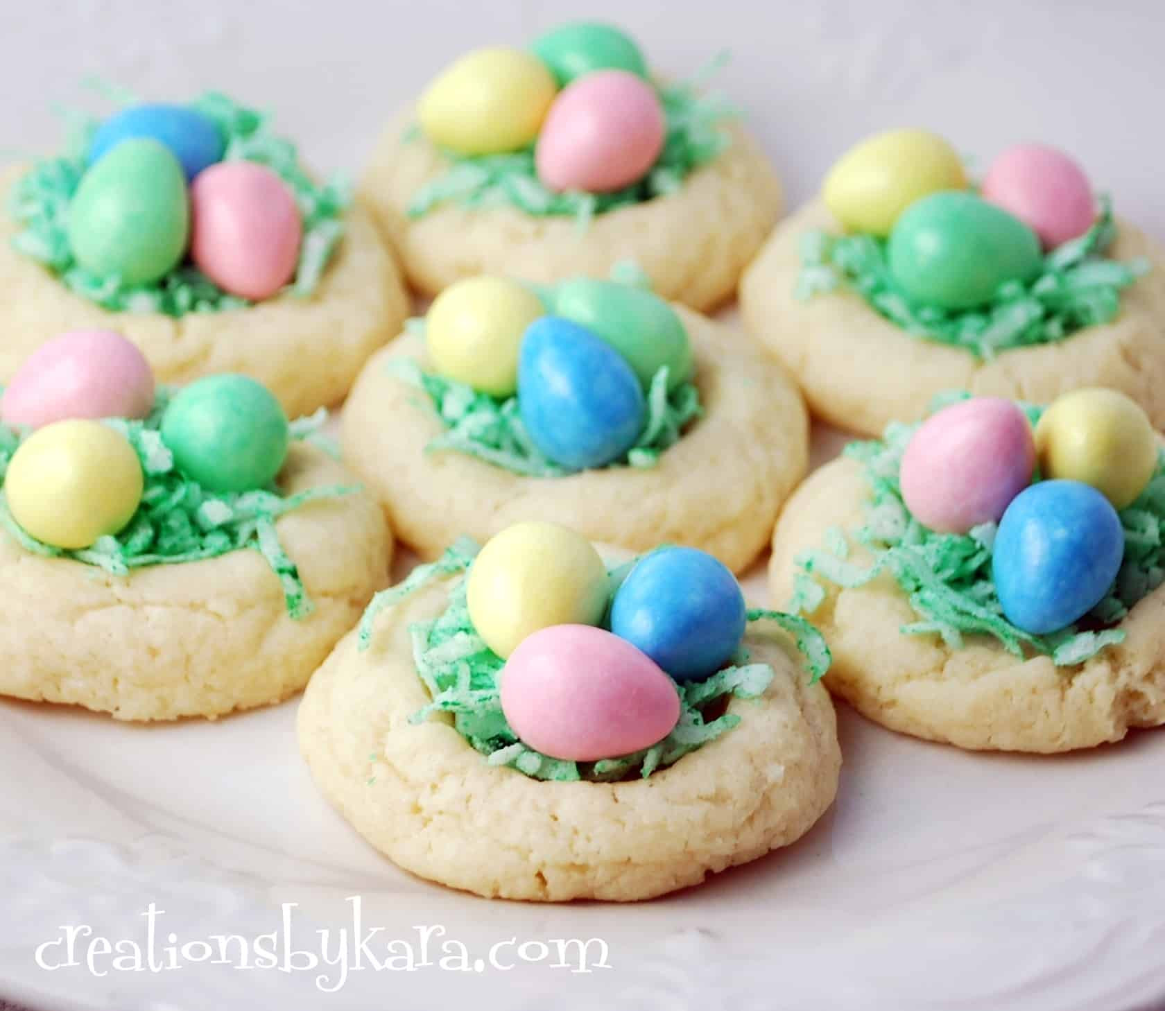 Easter Cookies Recipe  Easter Recipe Nest Cookies