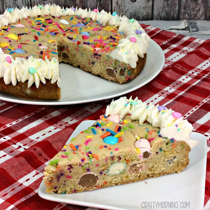 Easter Cookies Recipe  Easter Cookie Cake Crafty Morning