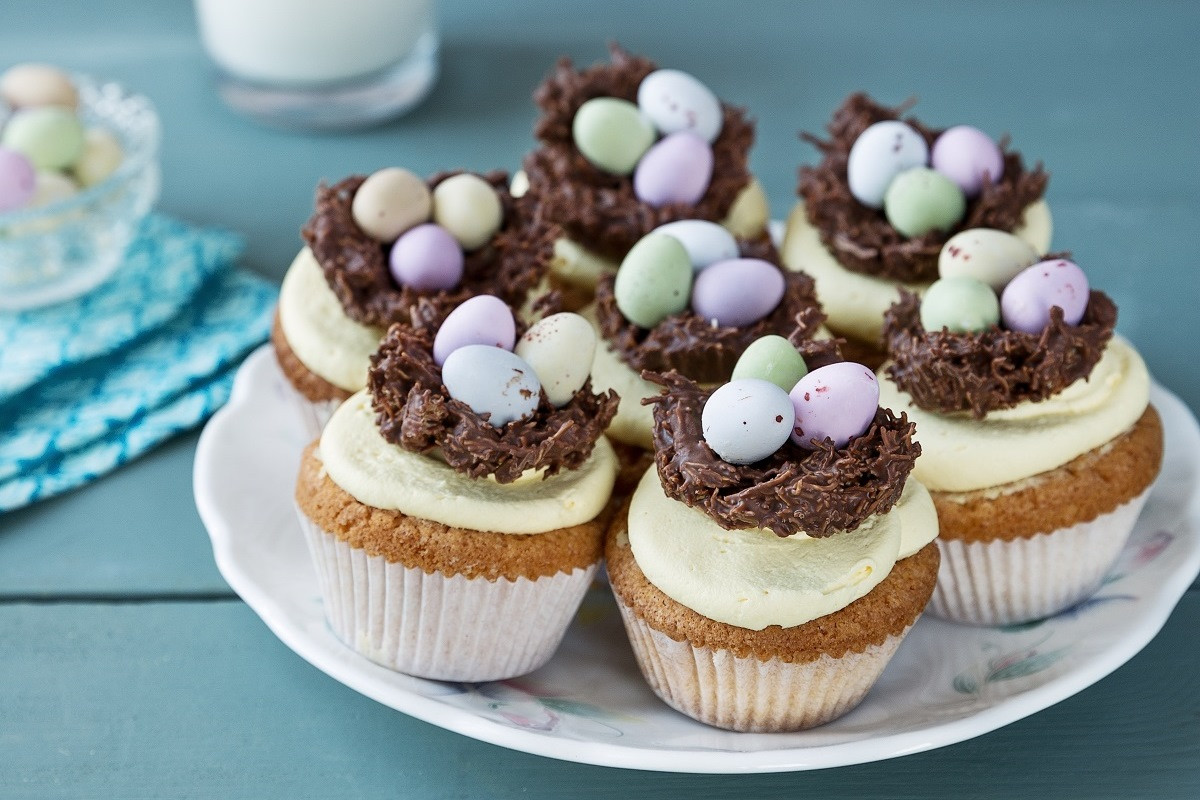 Easter Cupcakes Images  Easter Cupcakes with Nests Recipe