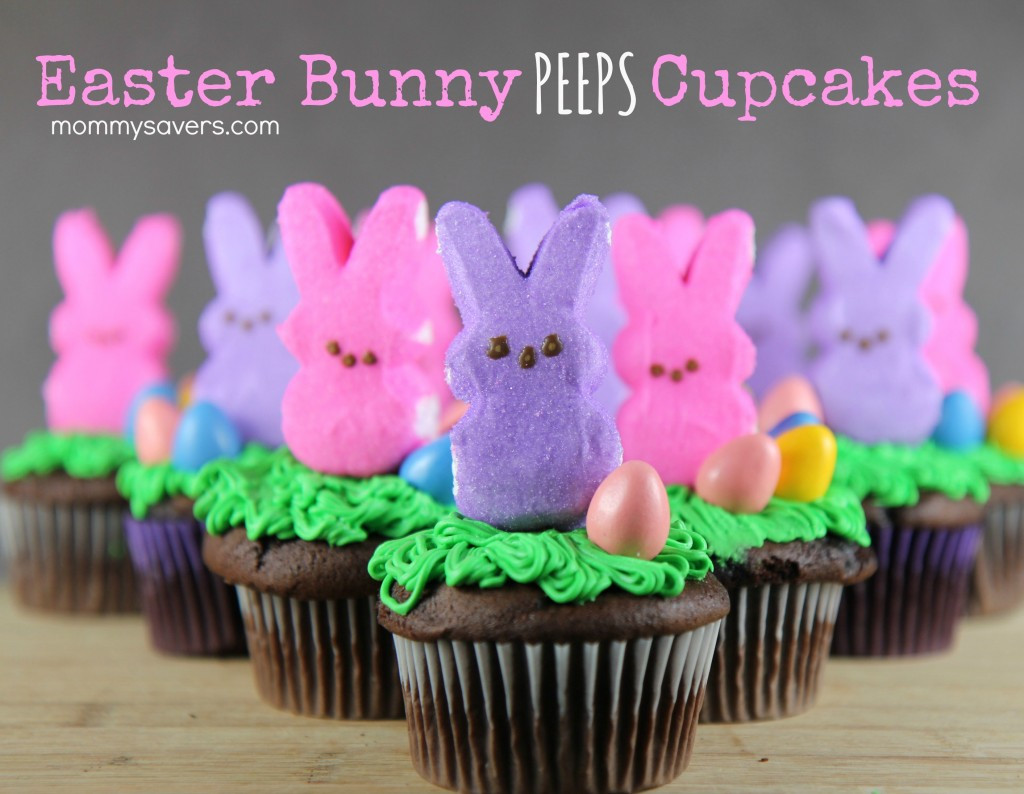 Easter Cupcakes with Peeps 20 Ideas for Easter Bunny Peeps Cupcakes Mommysavers