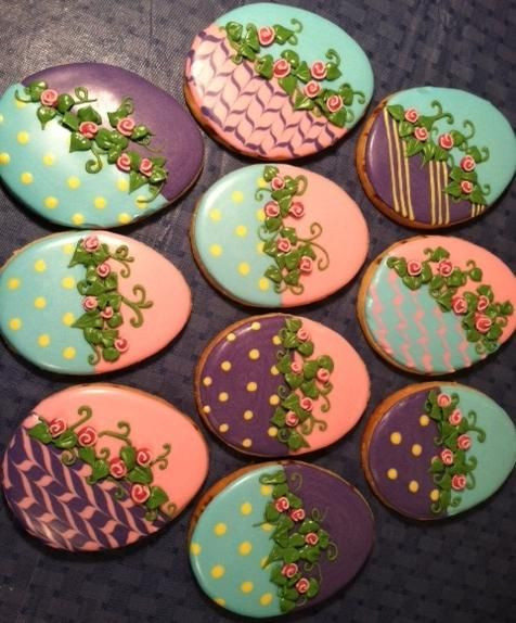 Easter Cut Out Cookies  Easter Eggs Cookie Connection