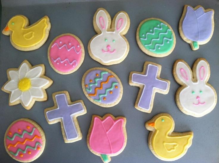 Easter Cut Out Cookies  Easter cut out cookies Cookie
