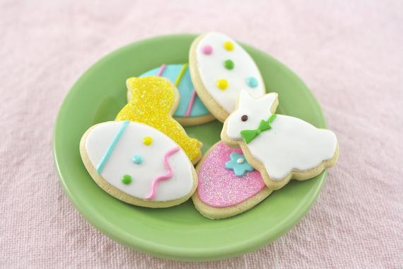 Easter Cut Out Cookies  Easter Sugar Cookie Cut Outs Food for American Girl by